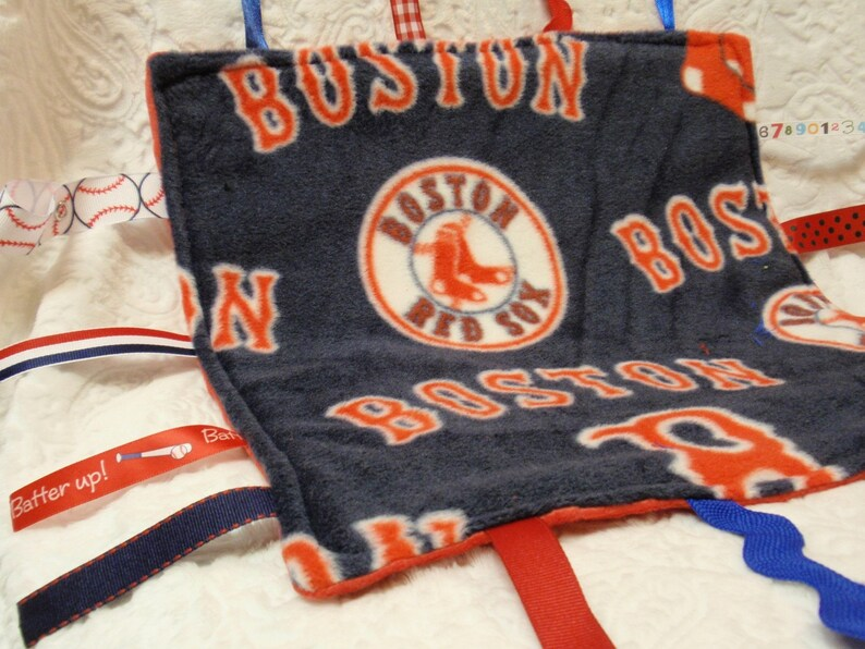 Boston Red Sox in Blue Blankie with Ribbons image 0