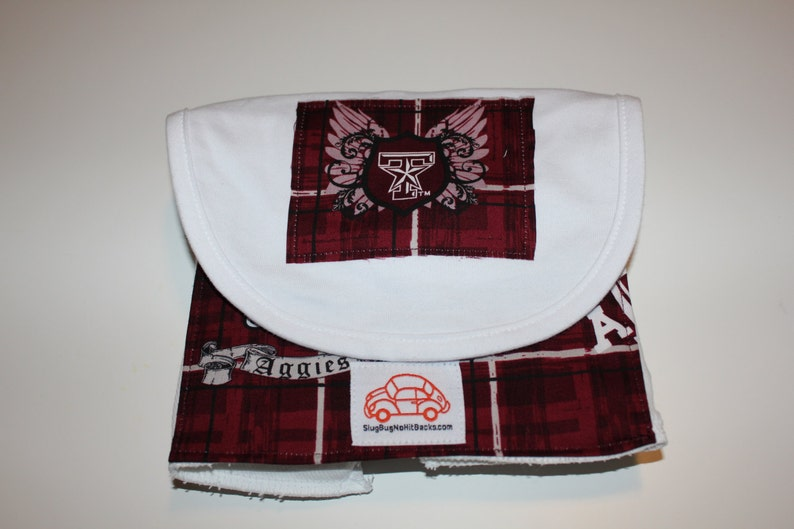 Texas A&M Bib and Burp Cloth Set image 0