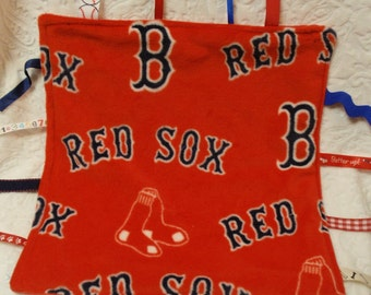 Boston Red Sox in Red Blankie with Ribbons