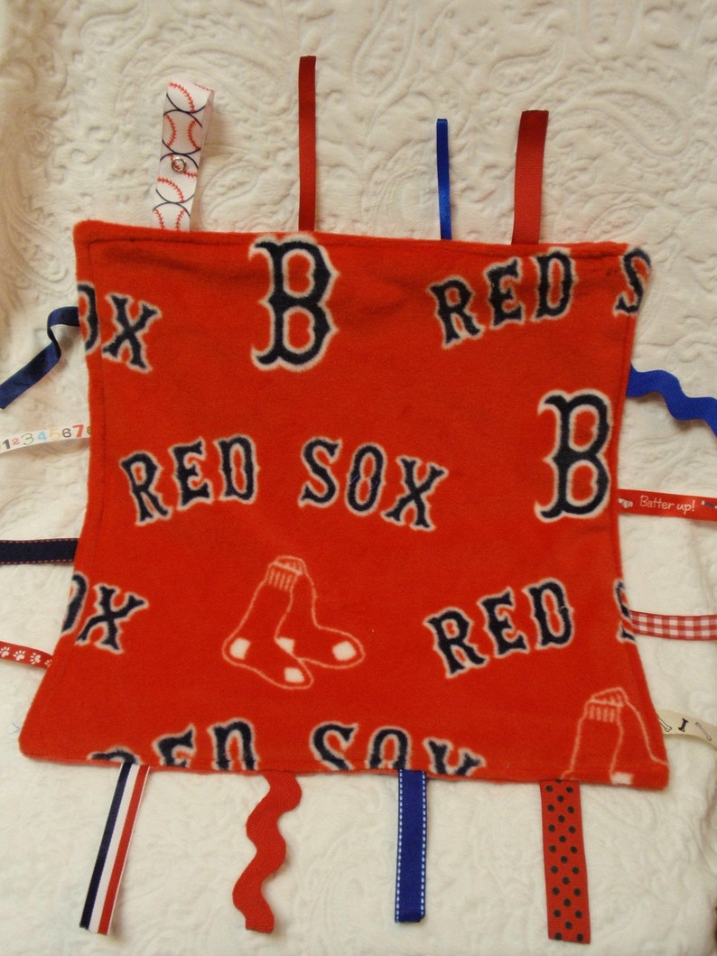 Boston Red Sox in Red Blankie with Ribbons image 0