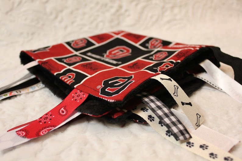 Oklahoma Sooners Blanket with Ribbons