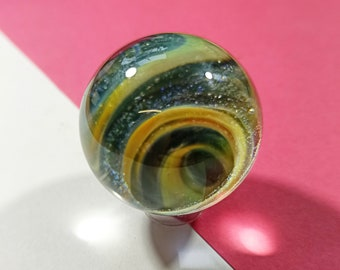 Space Art Glass Marble, Astronomy Gifts, Handmade Borosilicate Vortex Universe, Collectable Art Sphere