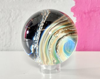 Glass Ashes Keepsake Galaxy Marble, Cremation Memorial for Cat, Dog, Pet Owners, Rainbow Bridge Gifts, Loss and Bereavement
