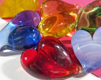 Pocket Hug Glass Heart, Token of Love, Touch Stone Gift, Ideal for Mothers, Grandparents and Friends