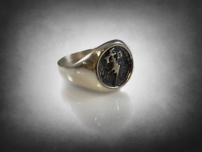 Elvis  Tcb Ring Solid Sterling Silver 925 All Size Available image 0