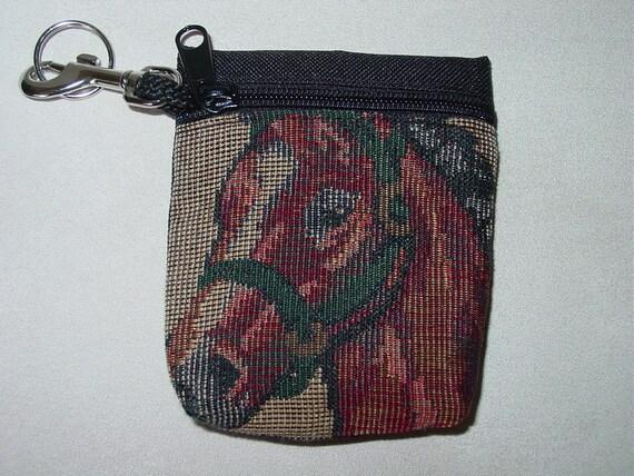 Horses Head Tapestry  Belt PackKey Chain Combo