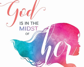 """PRINTABLE PDF Psalm 46:5 - """"God is in the midst of her"""""""