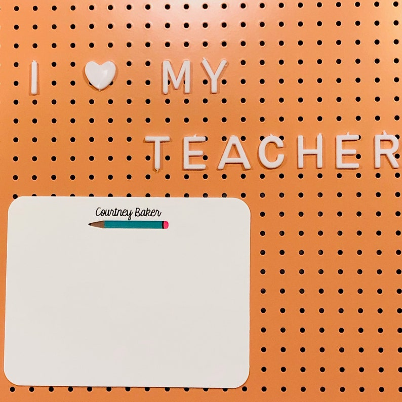 PERSONALIZED STATIONERY Set of Notecards I Pencil Flat Cards Teacher Gift