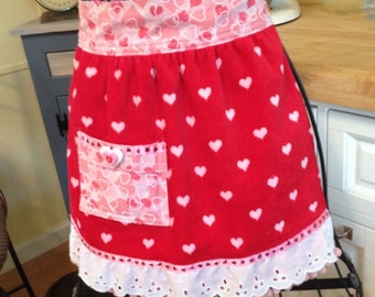 Sweetheart Terry Cloth Childs Waist Apron (SALE)