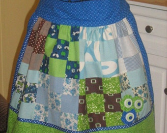 Reversible Adult Spring Time Quilted Waist Apron (SALE)