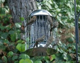 Squirrel Proof Stainless Steel Bird Feeder