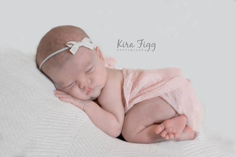 Ivory headband small bow headband YOU CHOOSE COLOR newborn  524ef91bf39