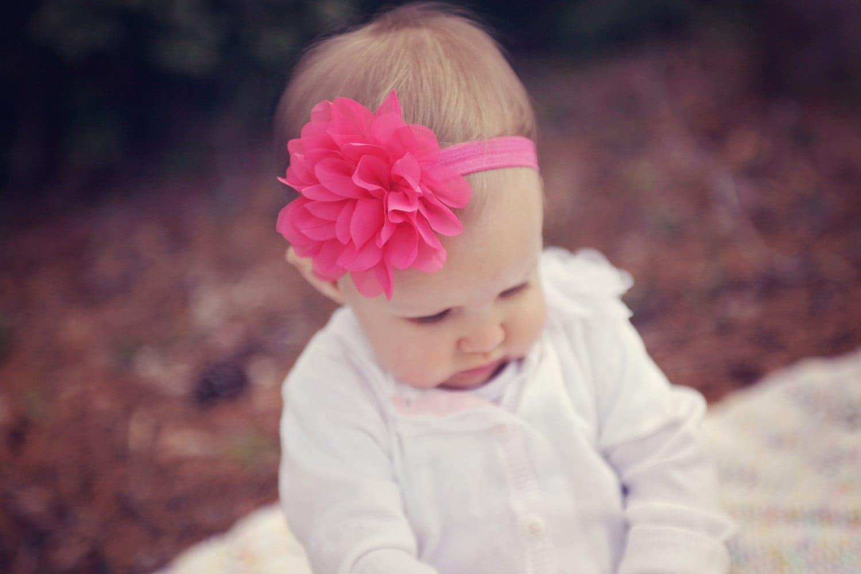 Pink baby headband QUICK SHIP hot pink baby headband hot  b489f129e40