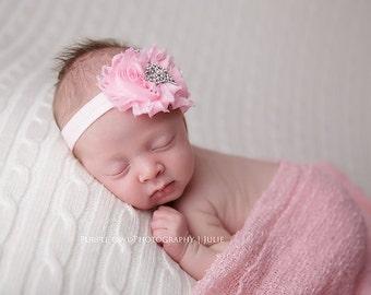 Baby headband, tiara headband, crown headband, baby tiara headband, princess headband, pink baby headband, baby hair band, baby crown