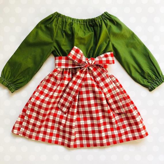 image 0 - Girls Plaid Christmas Dress
