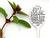 MINT JULEP Soon. Tall Flattened Silver Cocktail Stirrer Spoon. The ORIGINAL Subway Poster Art Style by Sycamore Hill. Choose Size. Derby