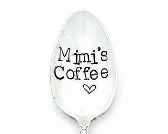 Mimi's Tea. Nana's Tea. Mimi's Coffee. Mom's Coffee Spoon. Personalized Hand Stamped Spoon. The ORIGINAL Hand Stamped Vintage Coffee Spoons™