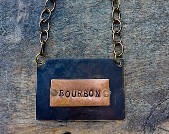 CUSTOM Liquor Bottle Tag. Custom Decanter Label. Decanter Tag. BOURBON Bottle Tag. The  Spirited Bottle Tag™ Collection. The Riveted Series™