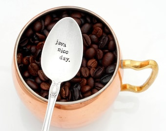 Nonna Mimi Gift for Nana Gramma Memaw Oma he ORIGINAL Hand Stamped Vintage Coffee Spoons\u2122 Love You Grammy Hand Stamped Vintage Spoon