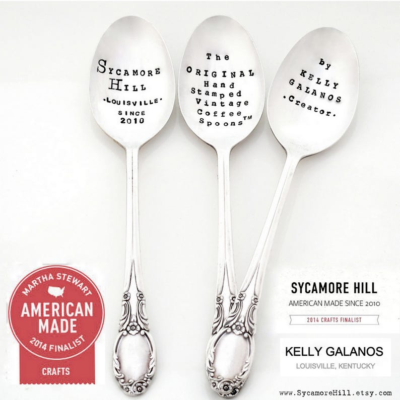 I/'m Italian Original Design by Kelly Galanos Creator of The Original Hand Stamped Vintage Coffee Spoons\u2122 I DON/'T Do CALM stamped teaspoon