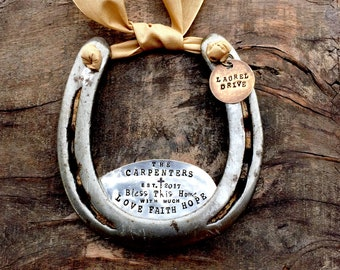 The Love • Faith • Hope  Horseshoe. CUSTOM and Personalized for Your Home. The Handmade Original Design by Sycamore Hill. Home Sweet Home.