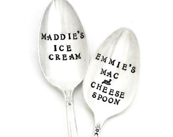 OWN IT Personalized Spoon for Coffee, Tea, Ice Cream, Mac and Cheese. Made to Order With Your Name. Choose Font, Wording and Spoon Size.