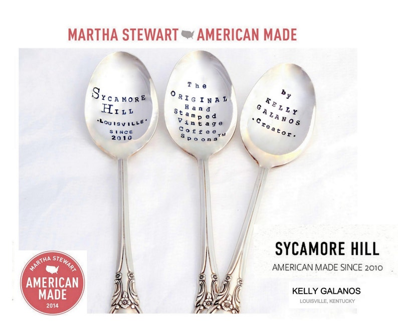 The Mai Tai Cocktail Stirrer Spoon The ORIGINAL Subway Poster Art Style Cocktail Recipe Spoon\u2122 by Sycamore Hill Hand Stamped Swizzle Stick