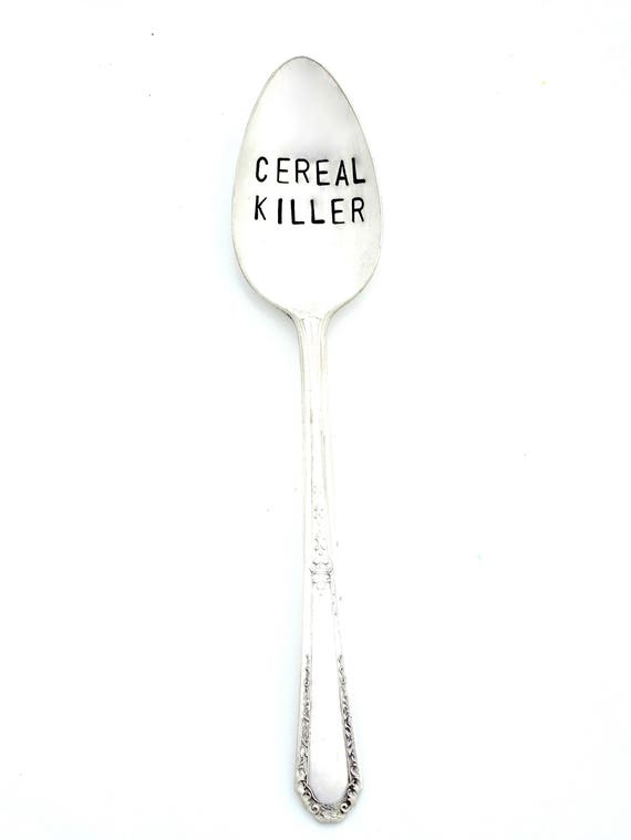 You Choose Size Font Made to Order Gumbo. THE ORIGINAL Cereal Killer \u2122 Spoon by Kelly Galanos for Sycamore Hill Tablespoon Teaspoon