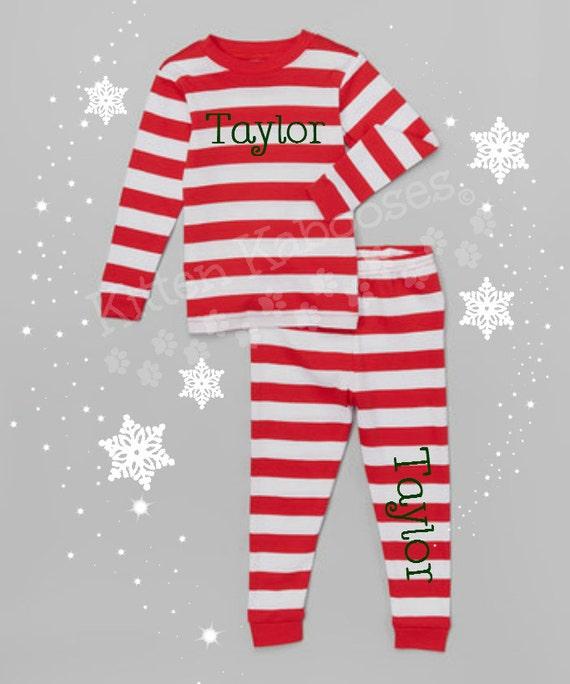 Candy Cane Striped Pajamas Family Christmas Tradition  47ca9e9ee