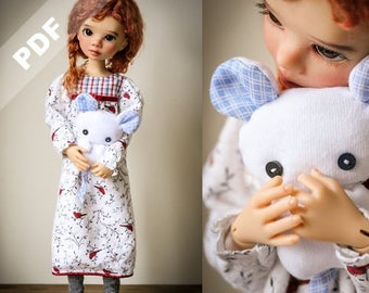 """Briar's """"Nightie Nite Wishes"""" PDF Pattern for MSD 1/4 Ball-Jointed Dolls by Forever Virginia"""