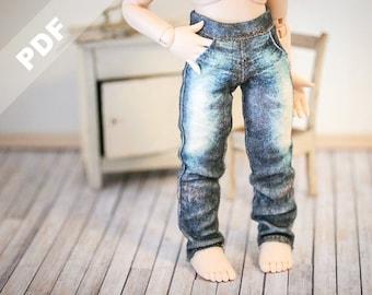 "Tiny BJD ""Stretch Jeans"" PDF Pattern for YoSDs, Forever Virginia 15cm Pet and Blythe dolls"