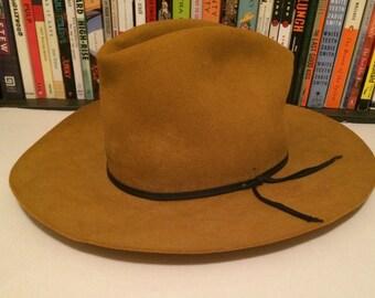 0b83616ce0c09d Vintage Resistol 4X Beaver Felt Self Conforming Cowboy Hat
