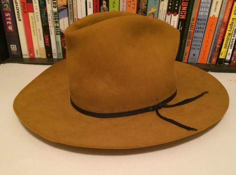 eb7f89838212a2 Image 0 photograph. Vintage Resistol 4X Beaver Felt Self Conforming Cowboy  Hat ...
