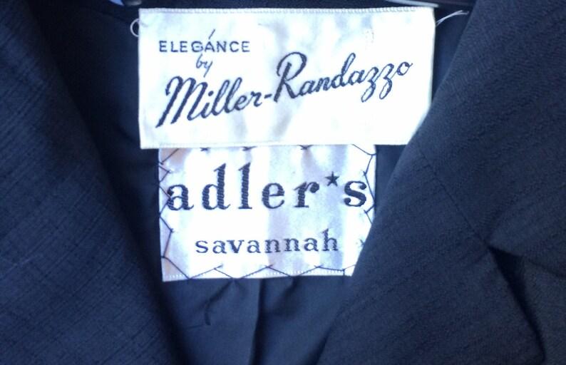 Vintage 1960s Black Crop Blazer by Miller-Randazzo