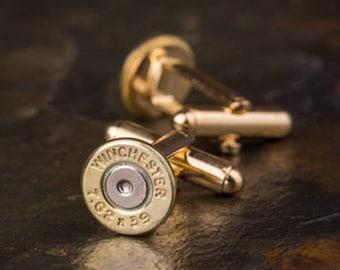 Winchester 357 Mag Brass Bullet Cufflinks 357 Mag Cufflinks Bullet Cuff Links Wedding Cufflinks Bullet Cufflinks Wedding Cuff Links