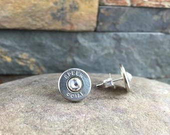 Bullet Stud Earrings, 50 AE STERLING Silver Bullet Stud Earrings, Bullet Earrings, Custom Earrings, 50 AE Earrings