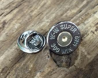 Bullet Hat Pin / 300 Mag Nickel Bullet Tie Tac / Hat Pin WWS-300M-NB-TT / Bullet Tie Tac / Men's Jewelry / Tie Tac / Hat Pin / Fishing