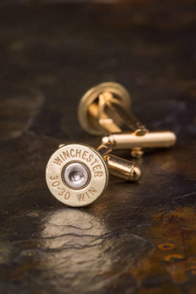 Winchester 30-30 Brass Bullet Cufflinks Wedding Cufflinks Bullet Cuff Links 30-30 Cufflinks Wedding Cuff Links Bullet Cufflinks
