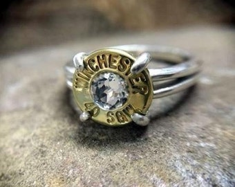 Bullet Ring / Winchester 40 Caliber Sterling Silver Bullet Ring WIN-#-B-WSTER / Custom Ring / Bullet Jewelry / Sterling Silver Ring