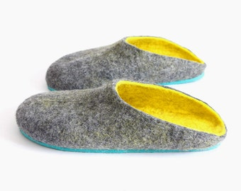 Handmade Clogs Women, Men Felted Slippers, Mens Clogs Mule Slippers, Home Wool Slippers Clogs, House Wool Shoes Natural Wool, Thank You Gift