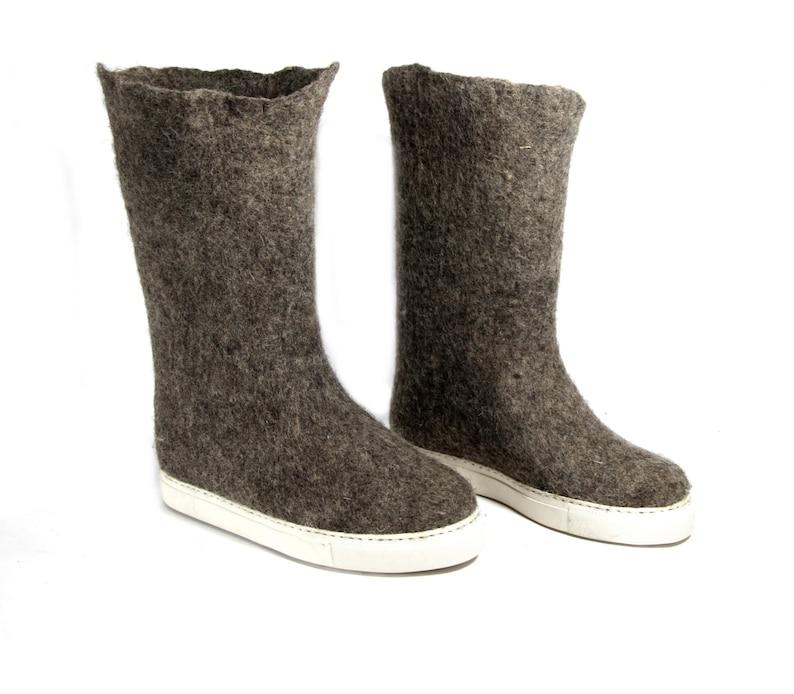 6e80ac6f54be93 Filz dass Stiefel Stiefel Bio-Wolle Wolle Filzstiefel