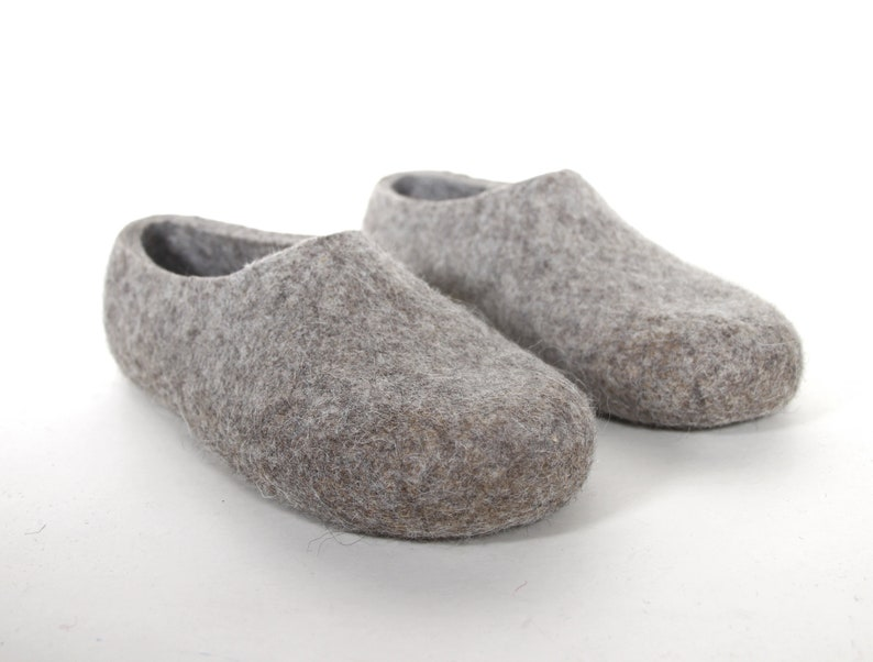 54df73f1fe601c OUTLET SALE Eco slippers Mens wool slippers House shoes for   Etsy