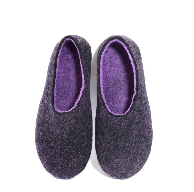 ec5c6ea5d3192 Felted wool slippers Custom color Rubber soles Mens House slippers Felt  slippers Boiled wool slippers for Her Christmas Slippers Adults