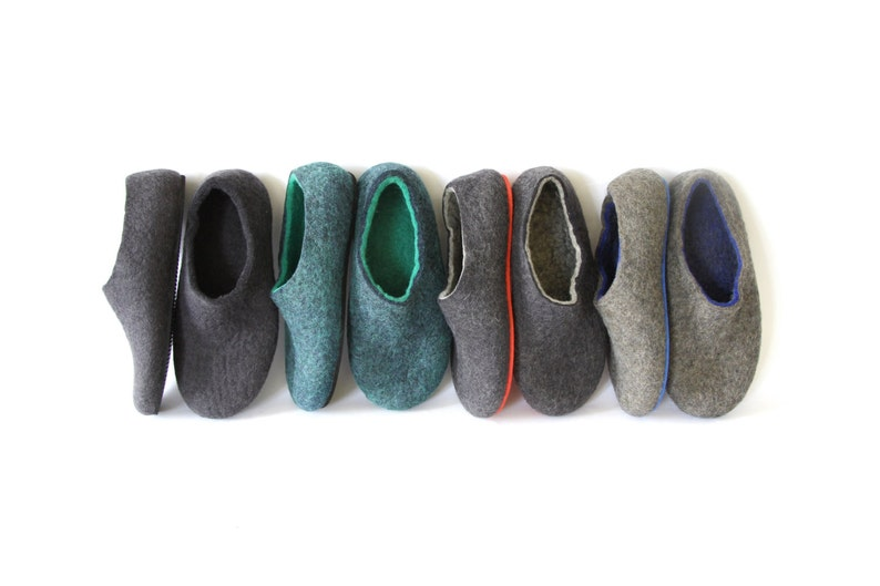 f06acdc8cb7cd Personalised Mens felted slippers House wool Shoes, men Felted wool  Slippers, Custom color Natural Wool, Cork Soles - Boiled wool slippers