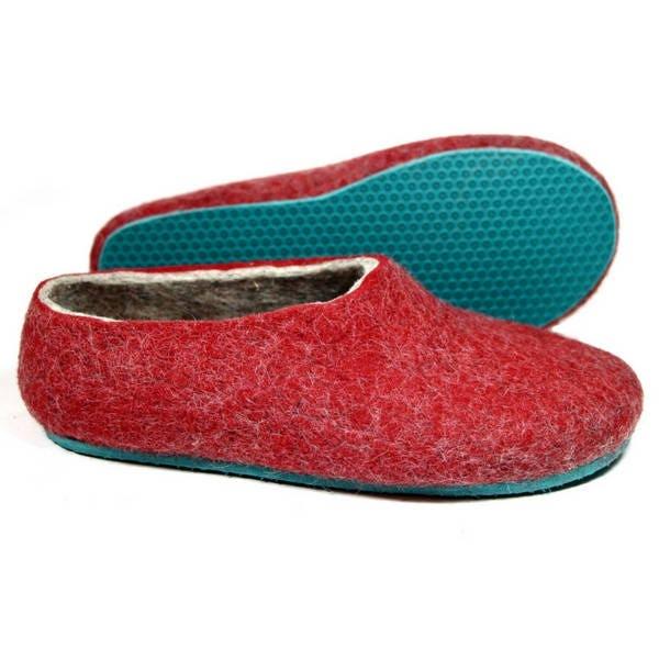estimé pantoufles chaussures femmes, sur deux tons laine chaussons chaussons chaussons semelles de chaussures , confortable maison caoutchouc laine, vin amant copine don 2739b6