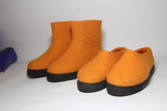 FilzstiefelDamen Lieferbar 40 StiefelBio Größe Winter 9 Eu Sofort Orange Schuhe Us Wolle 8nwO0mNv