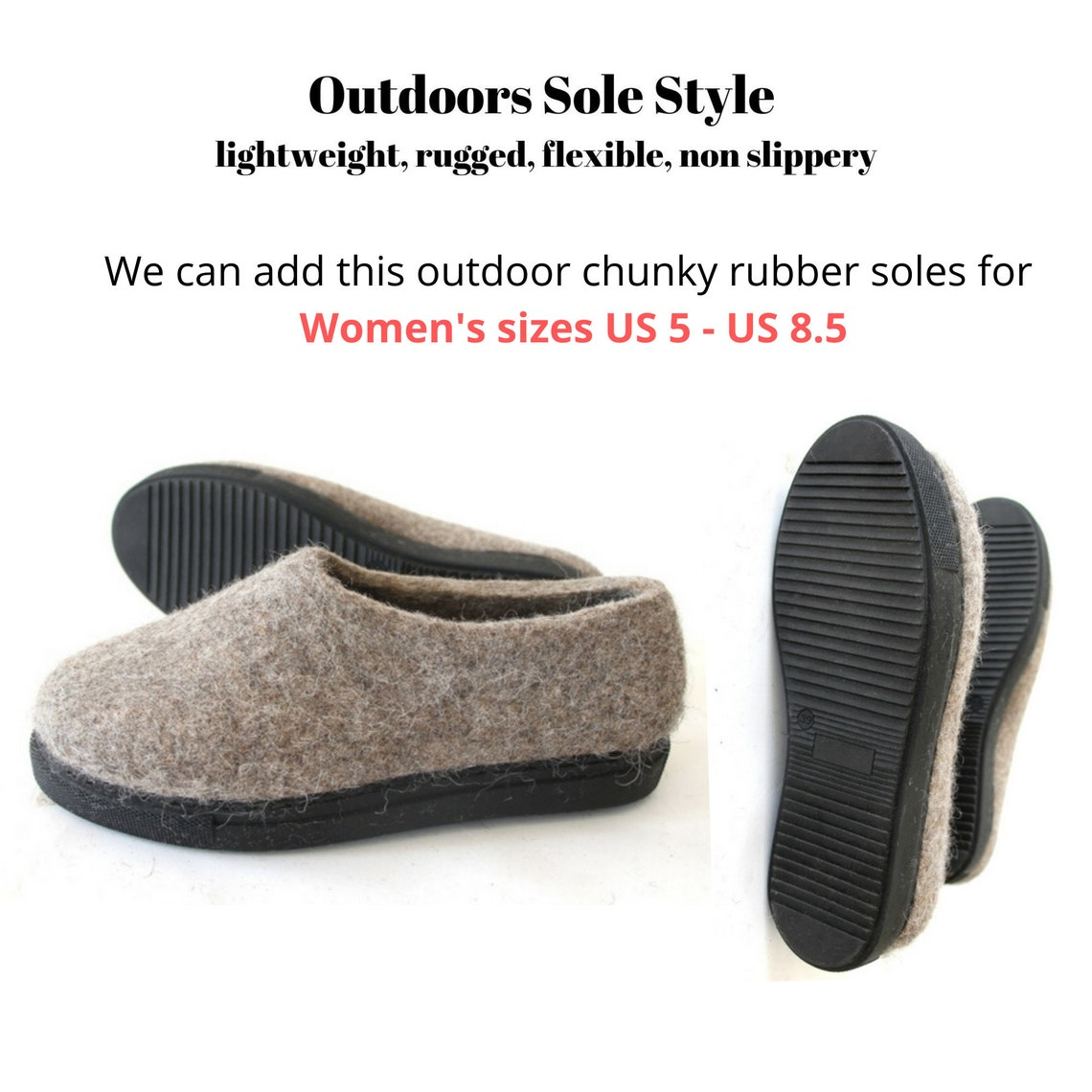 Classic Blue natural wool house shoes for men, felted slippers for cold feet, with cork or rubber soles. Women Men Spring Gift Ideas