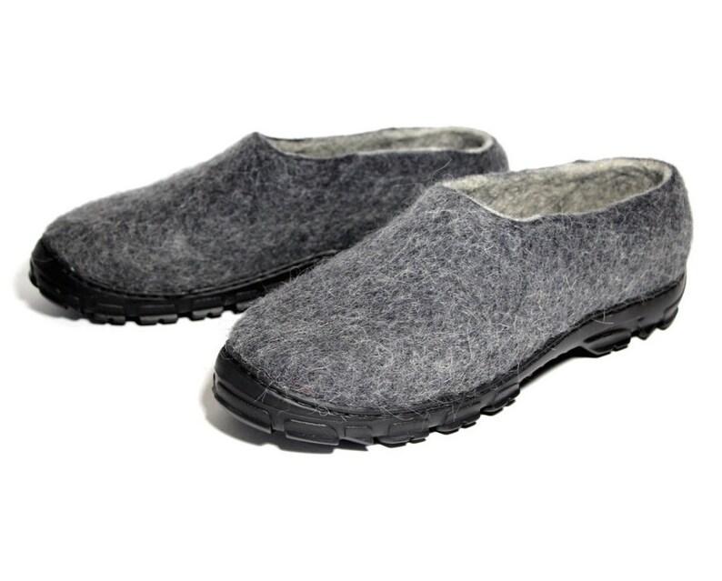 bb1bae15cc3b26 Bollito pantofole di lana Mens mocassini stivali in feltro