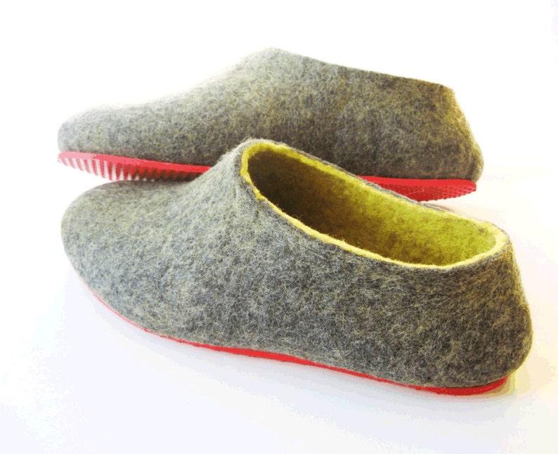 d697caf3b098f Top Selling items Felt Slipper Woman Gray Yellow Wool Clogs, Womens Felt  Slippers House Slippers Women, Christmas New Home Housewarming Gift