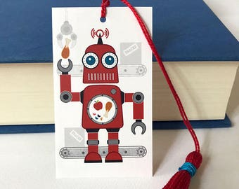 Robot Bookmark With Handmade Tassel